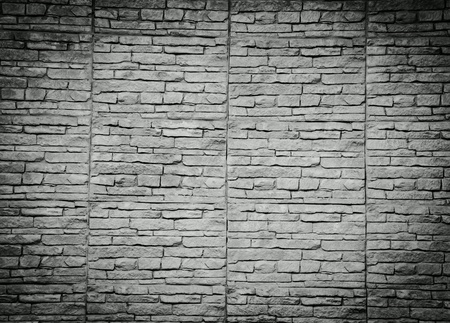 rough: Black and white brick wall background Stock Photo