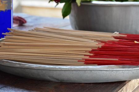thai herb: Heap of Incense Thai herb in tray