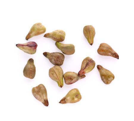 Seme di uva isolato su sfondo bianco Archivio Fotografico - 84348320