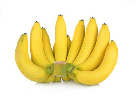 banaan geïsoleerd op een witte achtergrond.