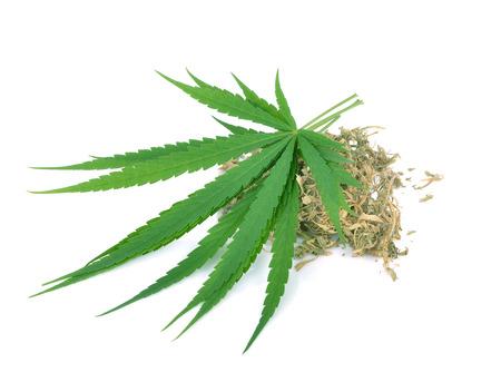 marihuana op witte backgroun