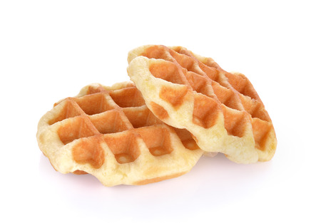 waffle isolated on white background Stockfoto
