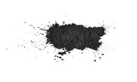 houtskool op een witte achtergrond Stockfoto