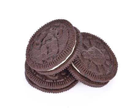 cookies cream on white background Stockfoto