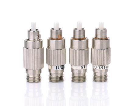 attenuator fiber on white background