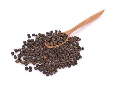 black pepper isolated on white background Stok Fotoğraf