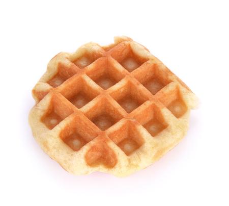 waffle isolated on white background Stok Fotoğraf