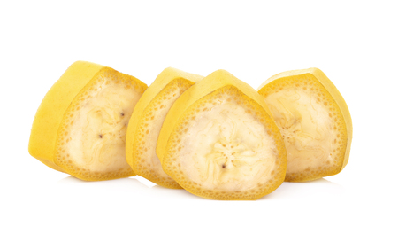 Banana slice isolated on white background Stok Fotoğraf