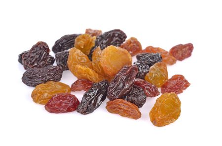 raisins isolated on white background