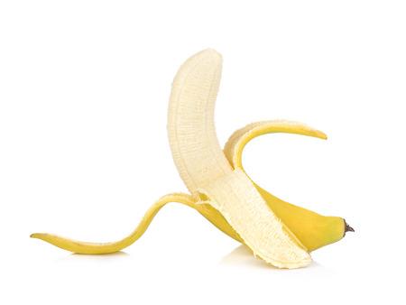 banana on white background. Stok Fotoğraf