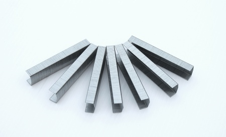 bars of staple bullets Stock Photo
