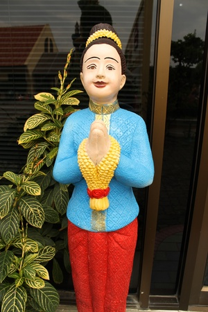 doll Thai traditional welcome