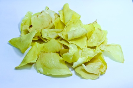 Fried Durian flavored chips with salt