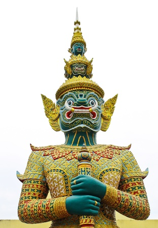 A Thai style statue of Tosakan  a giant character in Ramayana photo