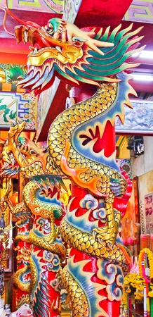 Chinese style dragon statue  Stock Photo - 12650870