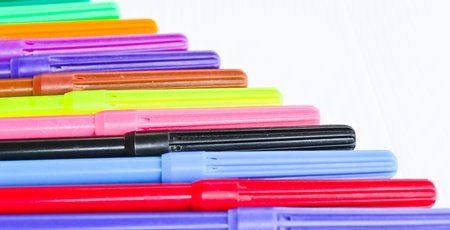 Colorful pens isolated  photo