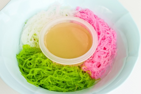 Thai desserts, such as a line  Colorful  Stock Photo