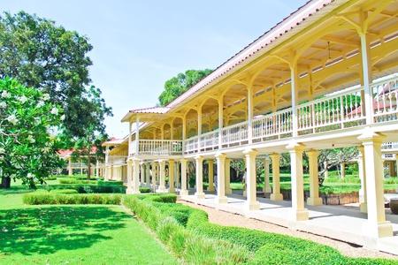 Palace Marukhathaiyawan in Cha-Am, Phetchaburi, Thailand Stock Photo