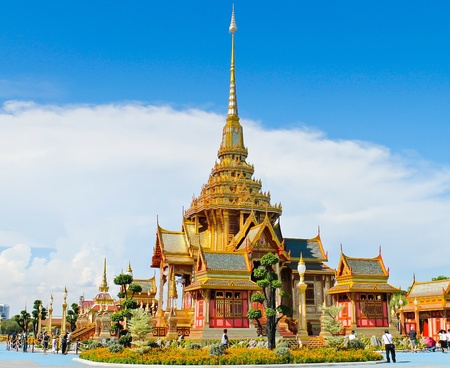 The royal crematorium in the royal cremation ceremony, Thailand photo