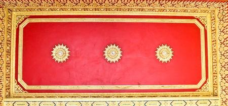 venerable: The ceiling of a Thai temple,thailand