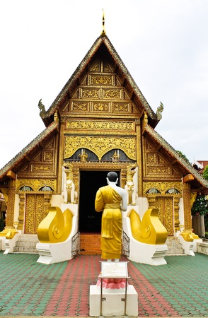 Wat Phra Singh temple in Thailand photo