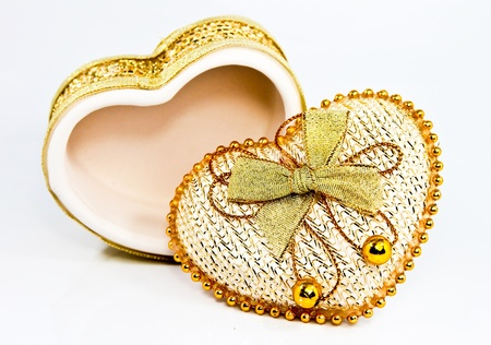Ceramic heart shaped box  photo