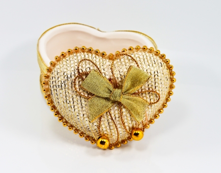 Ceramic heart shaped box  Stock Photo - 21100465
