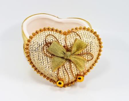 Ceramic heart shaped box Stock Photo - 21100465