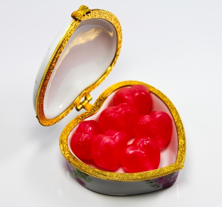 Ceramic heart shaped box  Stock Photo - 21100463