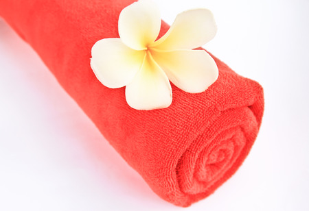 Colored towels Stock Photo