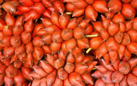 Salacca (Zalacca) Traditional seasonal Sweet and sour fruit flavors of Thailand