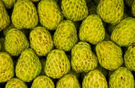 custard apple texture fruit of Thailand Stock Photo