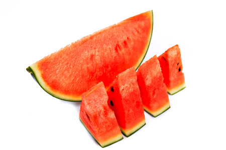 cut watermelon isolated on white background