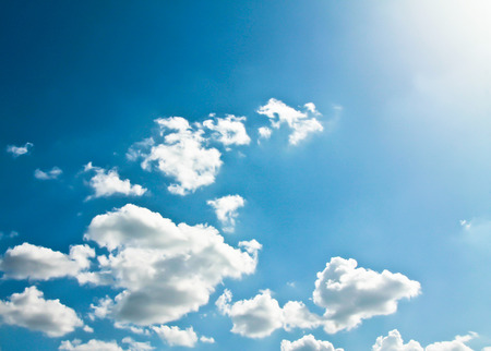 abstract white clouds on blue sky Stock Photo