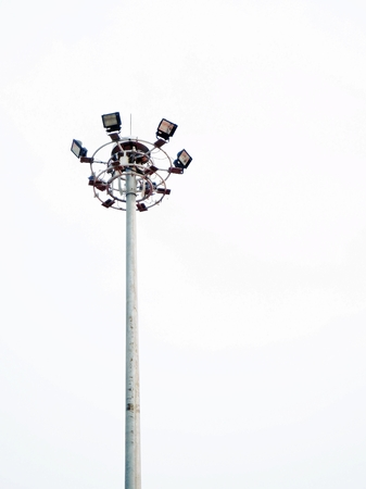 Street lamp posts Stock Photo