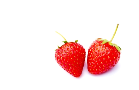 strawberrys: sweet strawberrys isolated on white background Stock Photo