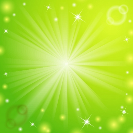 Abstract magic light background illustration for your majestic design  Element for web design  Green color  Vector