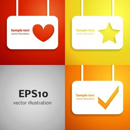 Entertainment applique background set illustration for your lovely design  Banner of cute promotion voice symbols for your business design  Vector