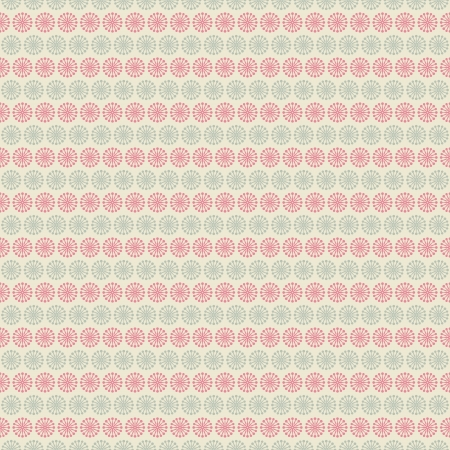 Floral vector seamless pattern (tiling). Pink, white and blue shabby color. Endless texture can be used for printing onto fabric and paper or scrap booking. Flower abstract shape. Vector