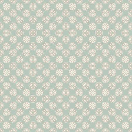 花のベクトル (タイル) のドットとのシームレスなパターン。ピンク、白、青のみすぼらしい色。布に印刷し、紙やスクラップ予約の無限のテクスチ