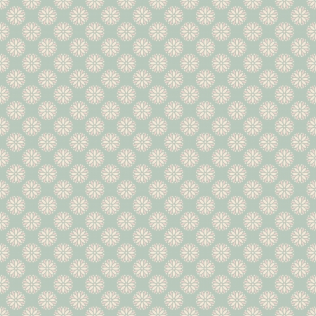 onto: Floral vector seamless pattern with dots (tiling). Pink, white and blue shabby color. Endless texture can be used for printing onto fabric and paper or scrap booking. Flower abstract shape.