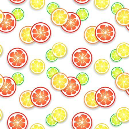 acid colors: Citrus fruit background. Vector illustration for your fresh juicy design. Can be used for book, table-cloth, textile, web page background, surface texture. Funny happy cheerful wallpaper.