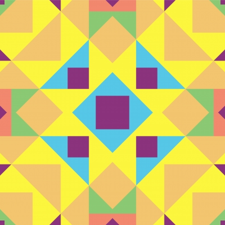 peachy: Abstract geometric background. This pattern is composition of triangle and square. Music flyer, cover, poster. Vector illustration. Colorful template.
