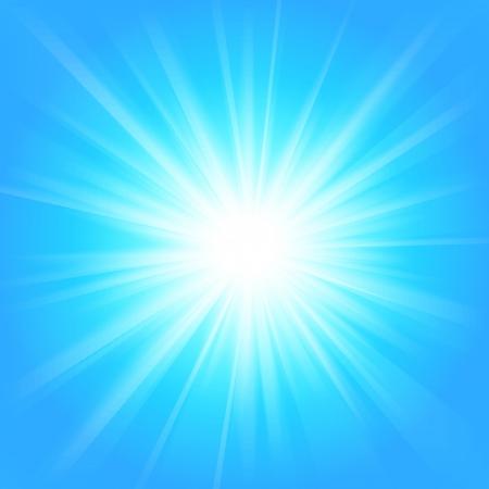 Resumen de antecedentes de la luz mágica azul y blanco. Ilustración vectorial para su diseño majestuoso. Elemento para el diseño web. Fondo de pantalla brillante.