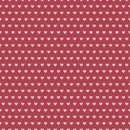 Heart shape vector seamless pattern (tiling). Pink and red colors. Endless texture can be used for printing onto fabric and paper or scrap booking. Valentines day background for invitation. Vector