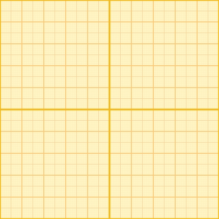 Seamless millimeter paper. Vector illustration. Graph grid scale paper, plotting paper. Orange color. Stock Vector - 25351765