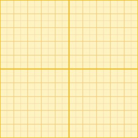 plotting: Seamless millimeter paper. Vector illustration. Graph grid scale paper, plotting paper. Orange color. Illustration