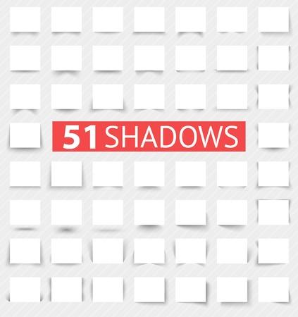 Conjunto de efectos de sombra realistas transparentes. Ilustración vectorial para su diseño moderno. Web banners. Aumentar tamaños y cambiar las proporciones del rectángulo de necesario sin pérdida de calidad.