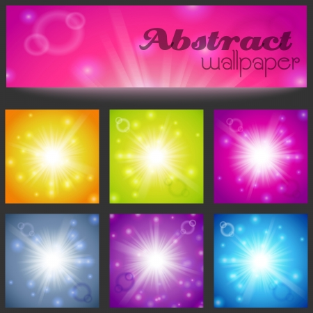 Set of abstract magic light background. Vector illustration for your majestic design. Element for web design. Vector