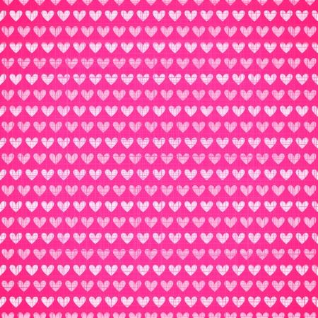 Texture de tissu rose avec le coeur seamless. Vector illustration pour votre belle jolie conception. Bel effet réaliste. Couverture romantique douce pour le livre, sac, fond de page web, surface.